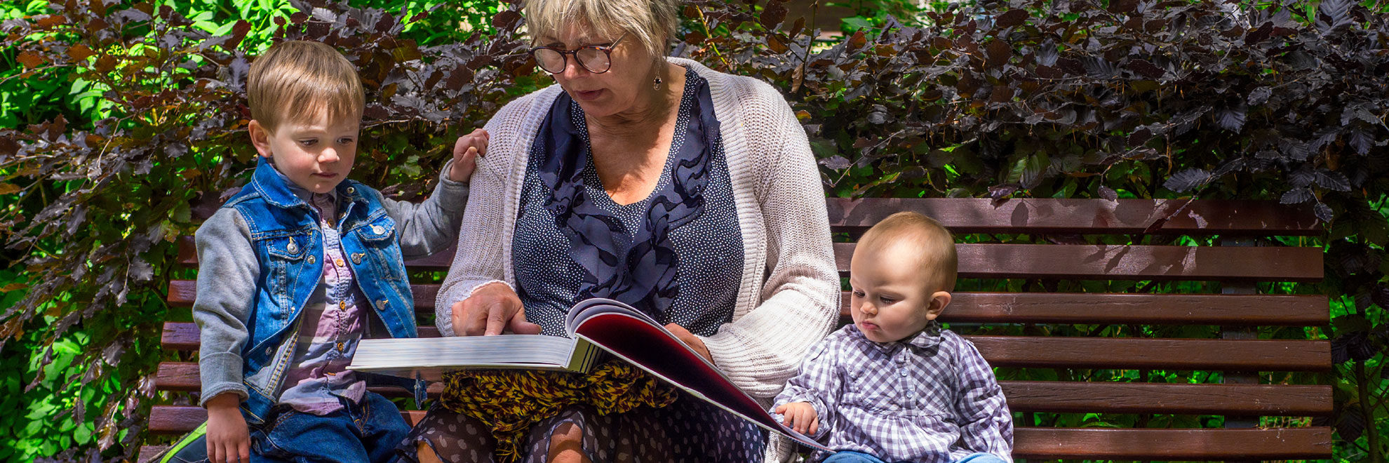 grandmother reading book