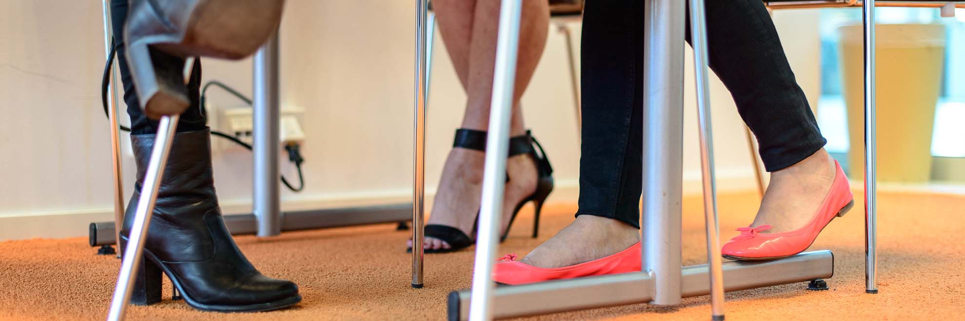 close up on feet