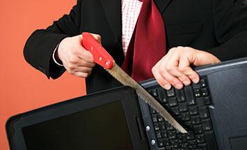 destroying computer