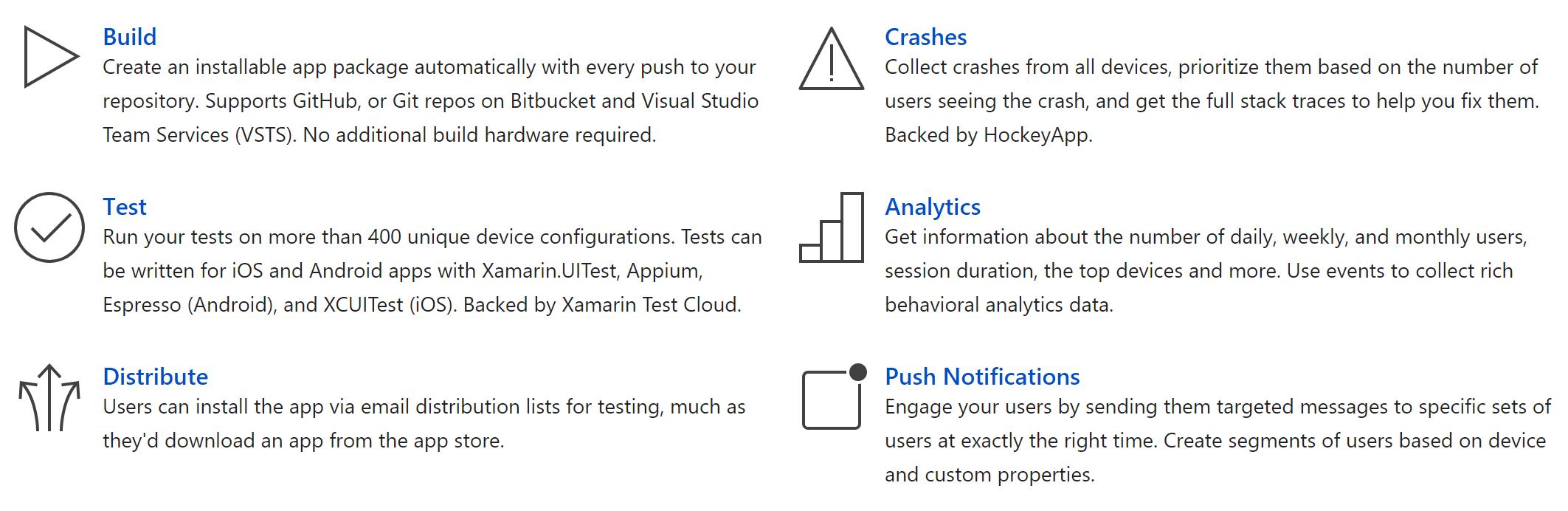 visual studio app center visual